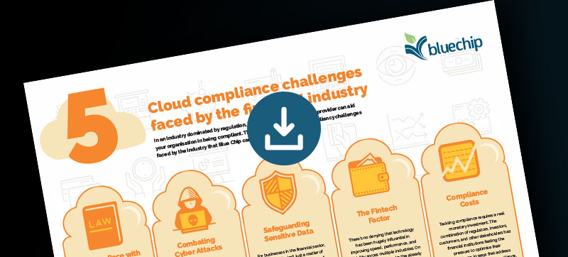Infographic Five cloud compliance challenges faced by the financial industry