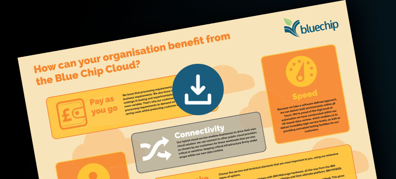 Infographic How can your organisation benefit from the Blue Chip Cloud?